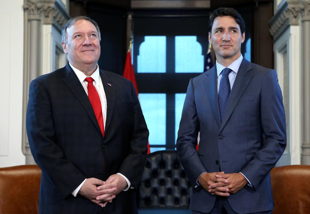 Pompeo tells Trudeau that U.S. officials are focusing on release of two Canadians in China