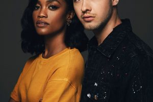 'The Bachelorette' star Rachel Lindsay and artist Travis Mills. (Photo: MTV)