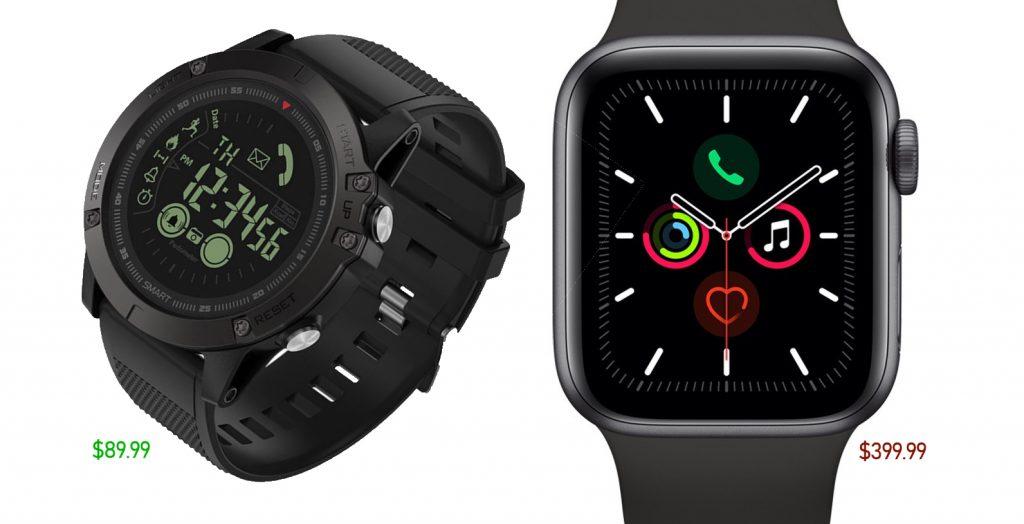 T1 Tact Watch 'Midnight Diamond' vs Apple Series 5 Smartwatch: Duel of Prices
